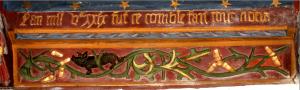 Une sablière et son inscription
